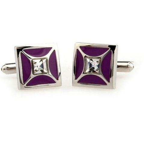 Purple Elegant Cufflinks - 2