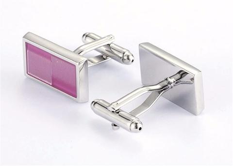 Light Violet Rectangle Cufflinks - 2