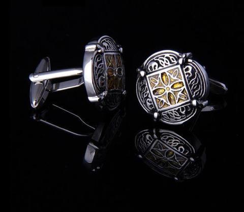 Wedding Gold Ornament Cufflinks - 2