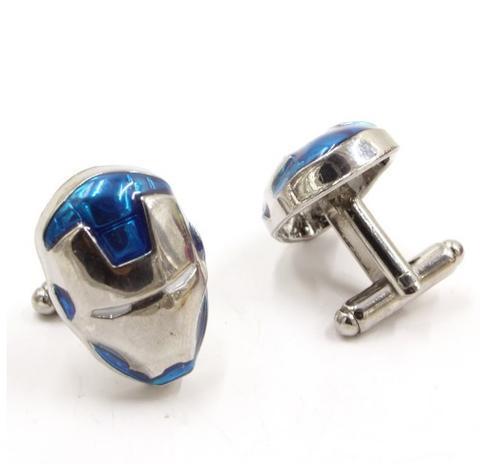 Iron Man Mask Cufflinks blue - 2