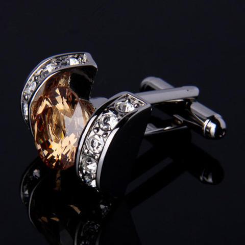 Elegant Vintage Crystal Cufflinks - 2
