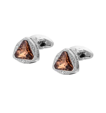 Cufflinks amber triangle - 2