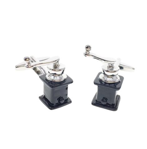 Coffee grinder cufflinks - 2