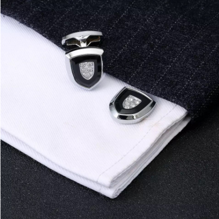 Cufflinks coat of arms with crystal - 2