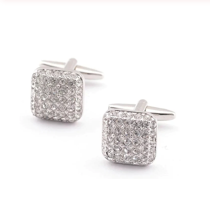 Rectangle Bright Crystals Cufflinks - 2
