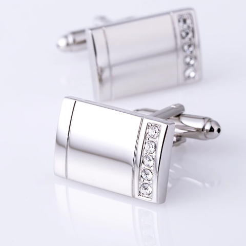 Cufflinks for engraving with stones - 2