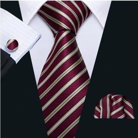 Cufflinks & Tie & Pocket Square Set - Peithó - 2