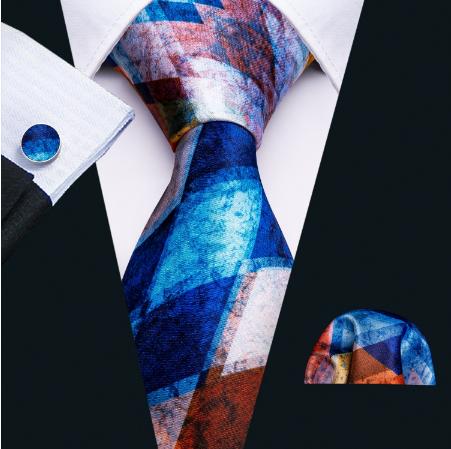 Cufflinks & Tie & Pocket Square Set - Plútos - 2