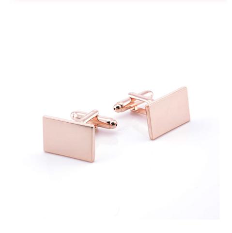 Cufflinks rectangle copper color - 2