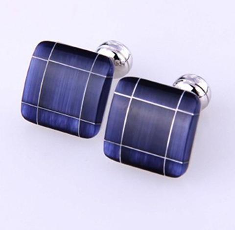 Luxury Big Blue Mosaic Cufflinks - 2