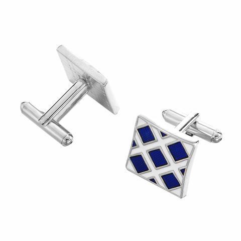 Cufflinks blue mosaic - 2