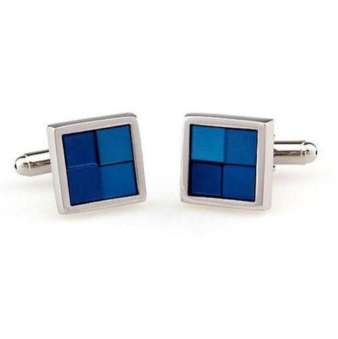 Blue Squares Cufflinks - 2