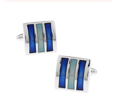 Blue triad cufflinks - 2