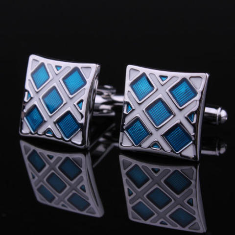 Luxury Blue Crystals Cufflinks - 2