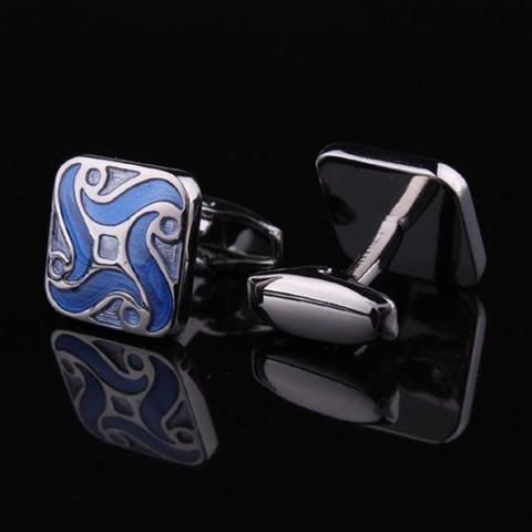 Blue Demon Flower Cufflinks - 2