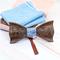 Wooden cufflinks with Amfora bow tie - 2/4
