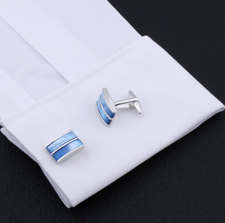 Cufflinks blue stripes - 2