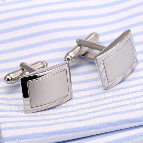 Fine Silver Metal Cufflinks - 2