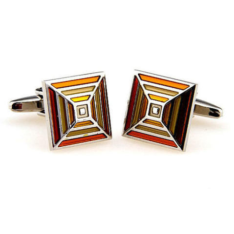 Orange Rainbow Cufflinks - 2