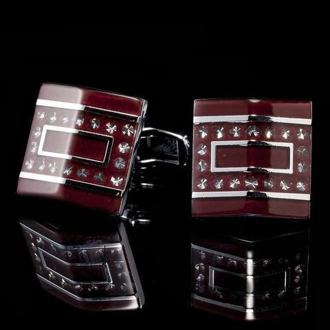 Dark Red Prism Cufflinks - 2