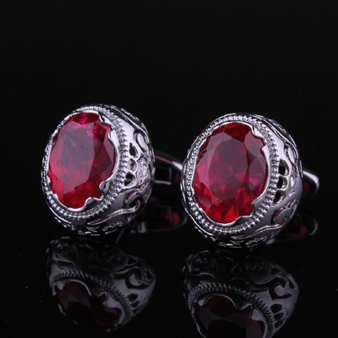 Vintage Ruby Eye Cufflinks - 2