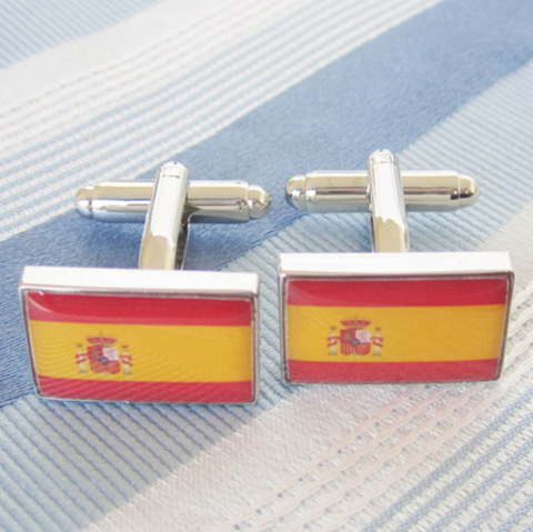 Cufflinks Spanish Flag - 2