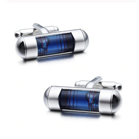 Cufflinks with tie clip spirit level - 2