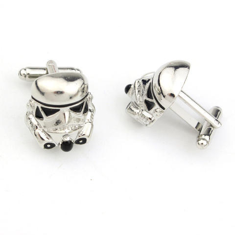 Star Wars Storm Trooper Helmet Cufflinks - 2