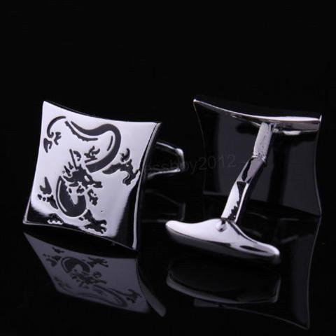 Silver Chinese Dragon Cufflinks - 2