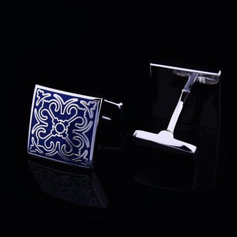 Blue Ornament Wedding Cufflinks - 2