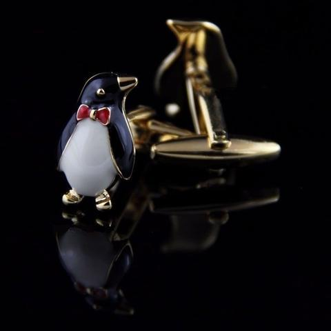 Cufflinks penguin with butterfly - 2