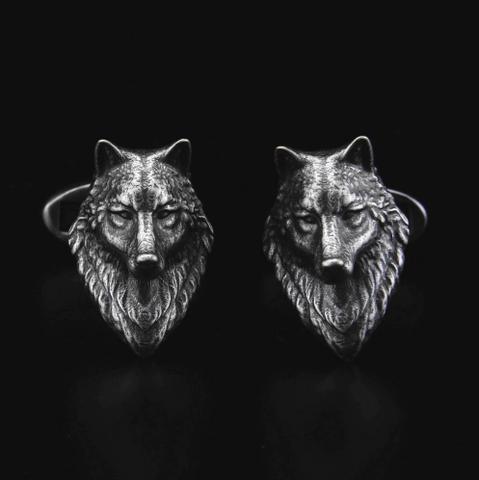Cufflinks wolf head - 2