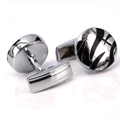 Cufflinks black abstract - 2