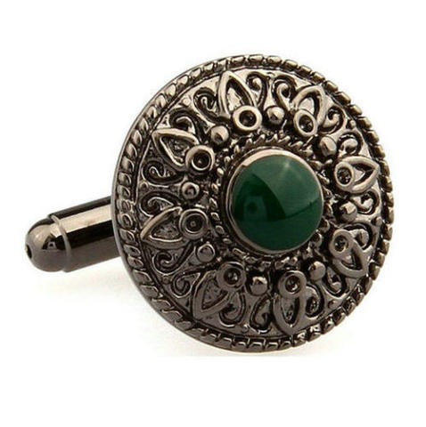 Vintage Green Eye Cufflinks - 2