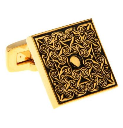 Luxury Golden Metal Ornament Cufflinks - 2