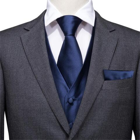 Blue vest for a suit with accessories - 2
