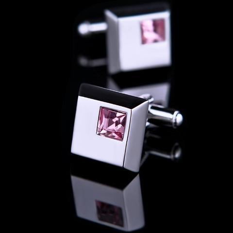 Arkansas - Dark Metal Purple Cufflinks and Tie Clip Set - 2