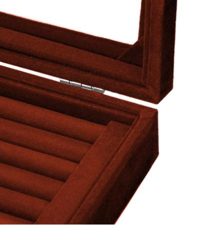 Black Cufflink Box - for three pairs - 2