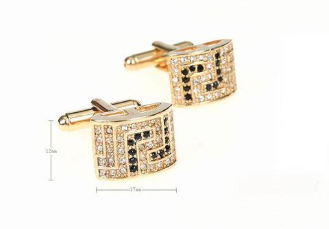 Luxury Rectangle Swarowski Element Cufflinks - 2