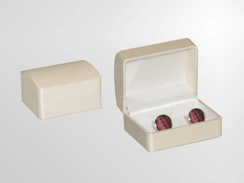 Beige Single Cufflink Box - 2