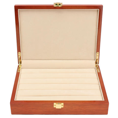 Black Cufflink and Tie Clip Box - for six pairs - 2