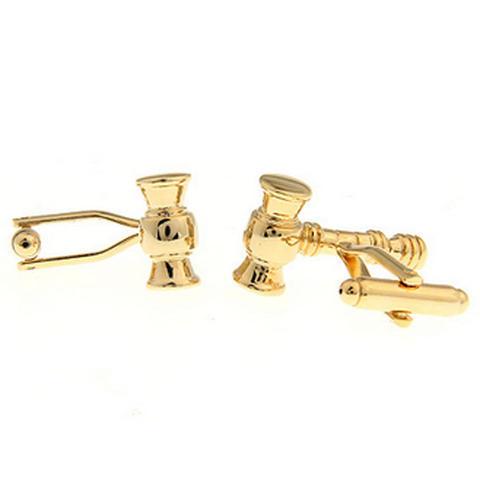 Cufflinks gold hammer - 2
