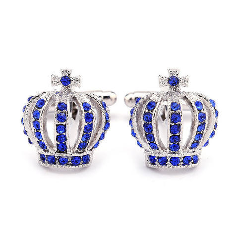 Blue Royal Crown Cufflinks - 3