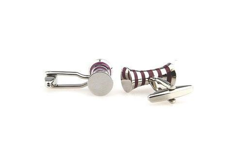 Violet Stripes Spool Cufflinks - 3