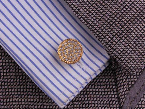 Luxury Circular Crystals Cufflinks - 3