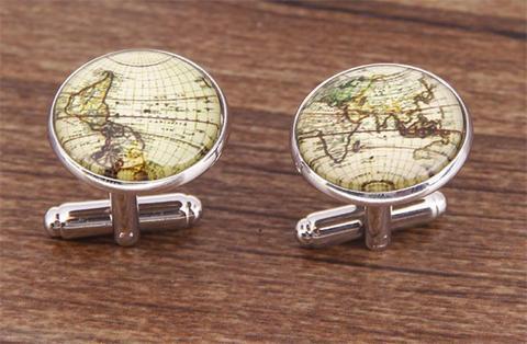 Vintage Map Cufflinks - 3