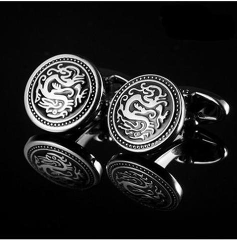 Round Shield with Dragon Cufflinks - 3