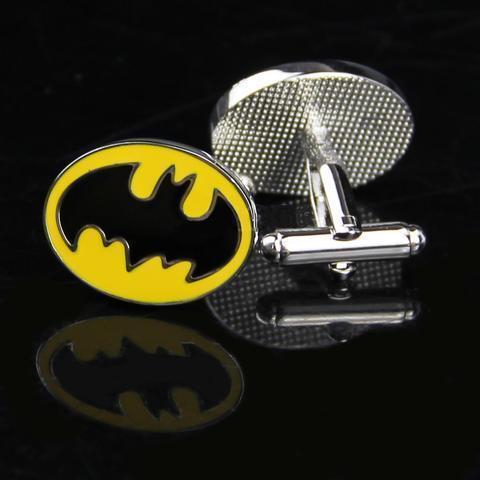 Enamel Yellow Batman Logo Cufflinks - 3