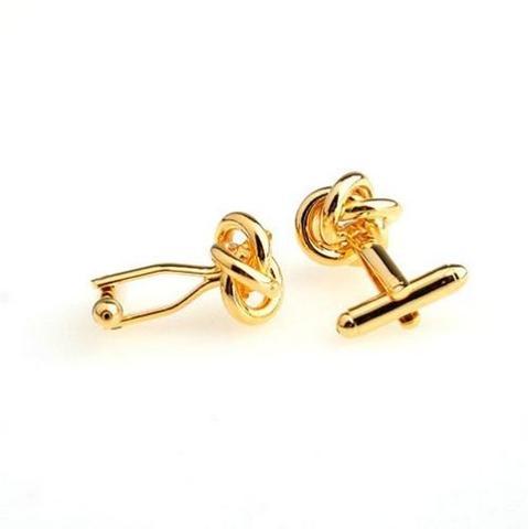 Gold Metal Knot Cufflinks - 3