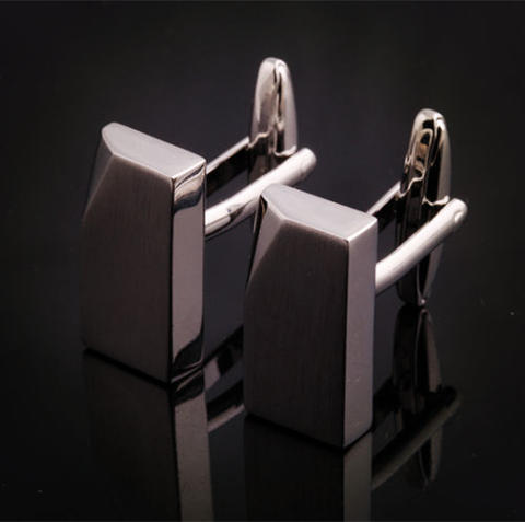 Silver Metal Block Cufflinks - 3